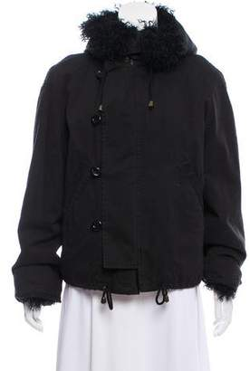 Givenchy Hooded Shearling-Lined Jacket