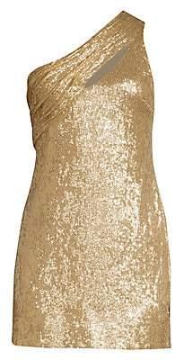 Rachel Zoe Women's Magda One-Shoulder Metallic Mini Dress