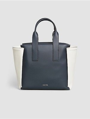 Calvin Klein Calvin Klein Womens Tonal Faux Leather Large Tote Ombre Blue