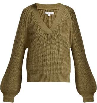 Apiece Apart Astro Wool Blend V Neck Sweater - Womens - Khaki