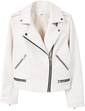 MANGO AppliquA biker jacket