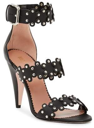 RED Valentino Studded Scalloped Sandal