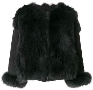 Liska panelled a-line jacket