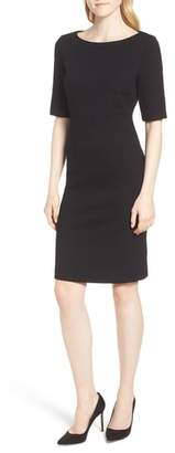 BOSS Hadea Textured Jersey Sheath Dress