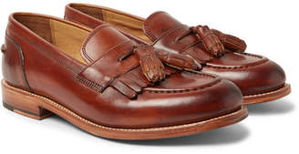 ff4d4771b84 Grenson Mackenzie Burnished-Leather Tasselled Kiltie Loafers - Men - Brown