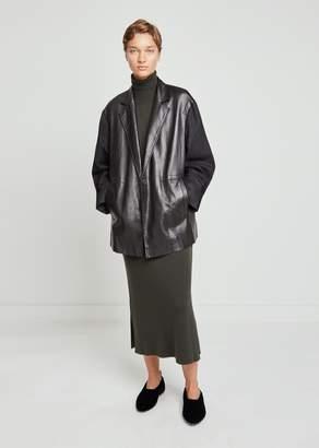 Nehera Luboji Leather & Wool Flannel Jacket