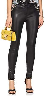 Robert Rodriguez Women's Leather Leggings - Black