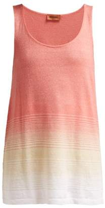 Missoni Ombre Cashmere Blend Tank Top - Womens - Pink Multi