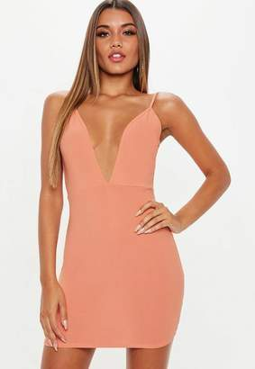 Missguided Terracotta V Neck Strappy Mini Dress