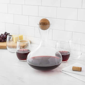 Cathy's Concepts CATHYS CONCEPTS Personalized Wine Decanter & Stemless Glass Set