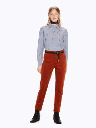 Scotch & Soda All-Over Embroidered Shirt