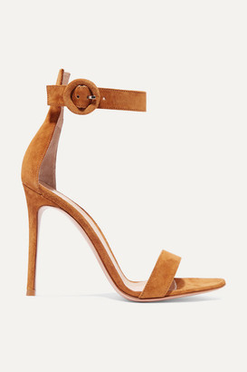 Gianvito Rossi Portofino 105 Suede Sandals - Brown