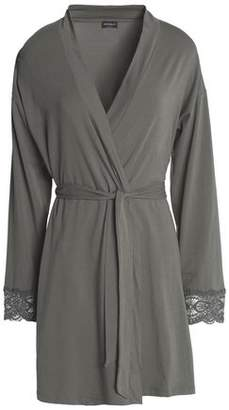 Cosabella Sonia Lace-Trimmed Stretch-Cotton Jersey Robe