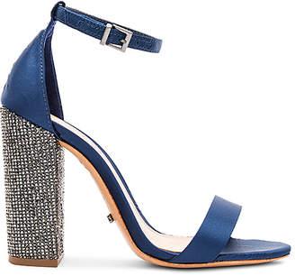 Schutz Woman Hara Crystal-embellished Satin-twill Sandals Cobalt Blue Size 10 Schutz AQGT2qM
