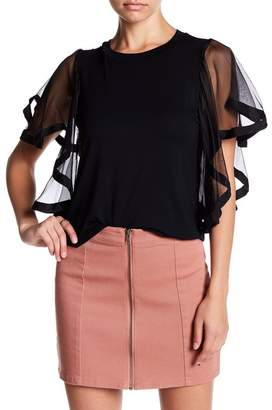 Endless Rose Chiffon Flared Sleeve Blouse