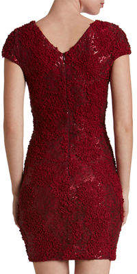 Dress the Population Zoe Lace Plunging V-Neck Mini Dress