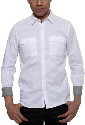 Kenneth Cole Men Two Pocket Solid Shirt
