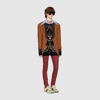 Gucci Voliére wool jacquard sweater