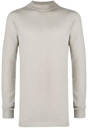 Rick Owens mid-length mock neck sweater