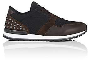 Tod's Men's Pebble-Embellished Sneakers-Brown