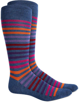 Alfani AlfaTech by Men Striped Dress Socks