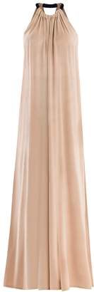 edf72ffd9c at Wolf   Badger · PAISIE - Two Tone Halterneck Jumpsuit With Pastel Belt  (With Faux Leather Belt) In