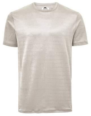 Topman Mens Grey Velour Corduroy T-Shirt