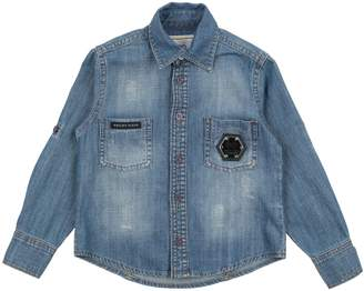 Philipp Plein Denim shirts - Item 42713116FR