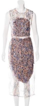 Stella McCartney Silk Midi Dress