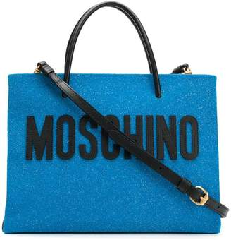 Moschino medium Glitter shopping bag