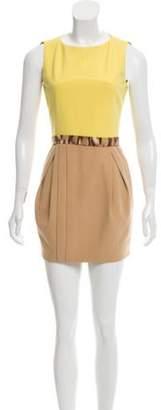 Just Cavalli Sleeveless Belted Dress Yellow Sleeveless Belted Dress