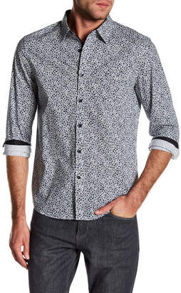 Kenneth Cole New York Mosaic Print Tailored Stretch Fit Shirt