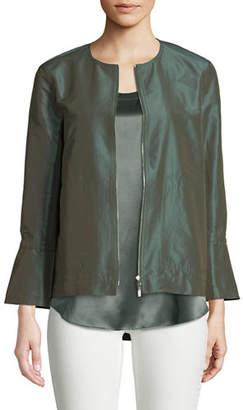 Lafayette 148 New York Johnsie Empirical Tech Cloth Zip Jacket