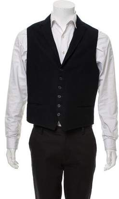 John Varvatos Wool-Blend Peak-Lapel Vest