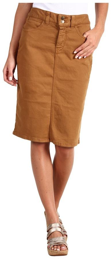 Miraclebody Jeans Ashbury Skirt (Caramel) - Apparel
