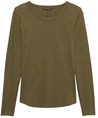 Banana Republic Cotton Modal Long-Sleeve T-Shirt