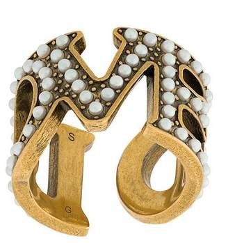 Gucci embellished Loved ring
