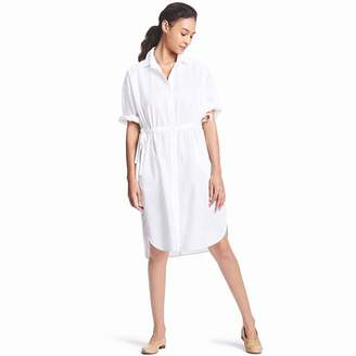 Uniqlo WOMEN Linen Blend 3/4 Sleeve Shirt Dress