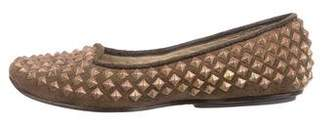 Calleen Cordero Embellished Suede Flats w/ Tags