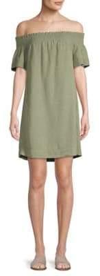 Vineyard Vines Off-The-Shoulder Smocked Dress