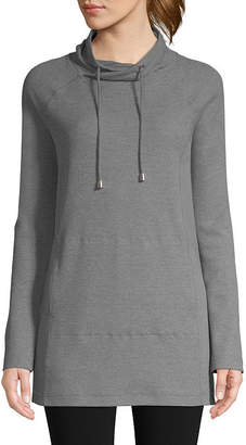 ST. JOHN'S BAY SJB ACTIVE Active Long Sleeve Thermal Hoodie Tunic - Tall