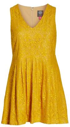 Vince Camuto Lace Sleeveless Fit & Flare Dress