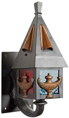 Rejuvenation Petite Multicolored Entry Lantern w/ Lamp Motif