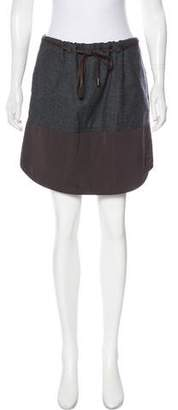 Brunello Cucinelli Wool Mini Skirt w/ Tags