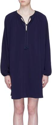Elizabeth and James 'Jasmine' gathered sleeve tie neck dress