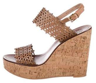 Tory Burch Laser Cut Leather Wedges