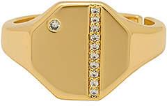 Lulu DK X WeWoreWhat Infinity Signet Ring