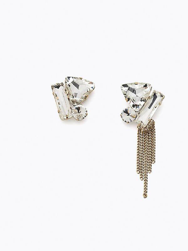 Ohrringe mit Glasschmucksteinen