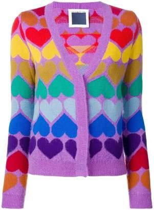 Marco Rambaldi rainbow heart cardigan