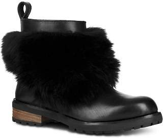 UGG Women's Otelia Round Toe Leather & Sheepskin Booties